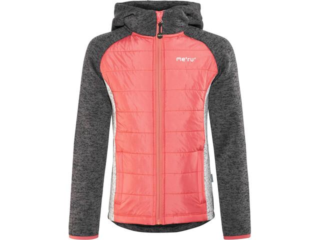 Meru Prag Knitted Fleece & Padded Jacket Kids carbon/pink